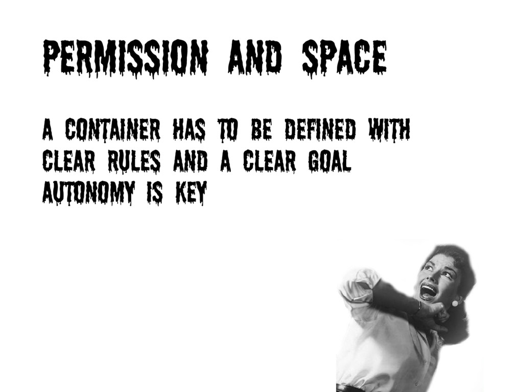 Permission and space A container has to be defi...
