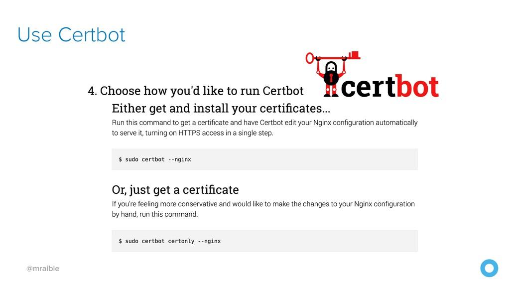 @mraible Use Certbot