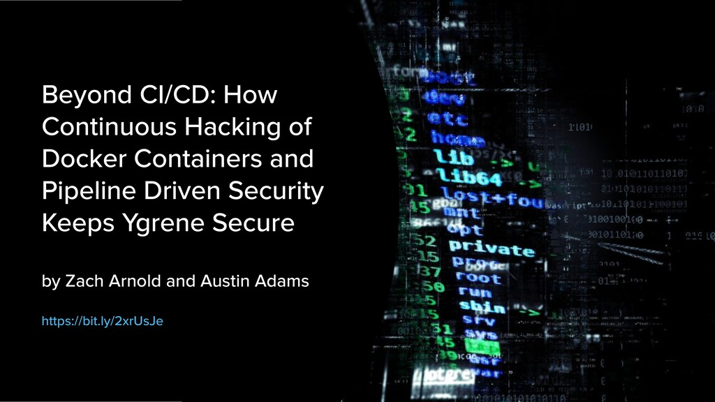 @mraible 7. Slow Down Attackers Beyond CI/CD: H...