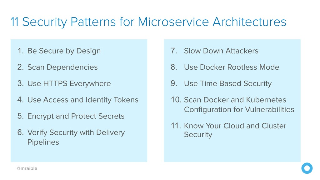 @mraible 11 Security Patterns for Microservice ...