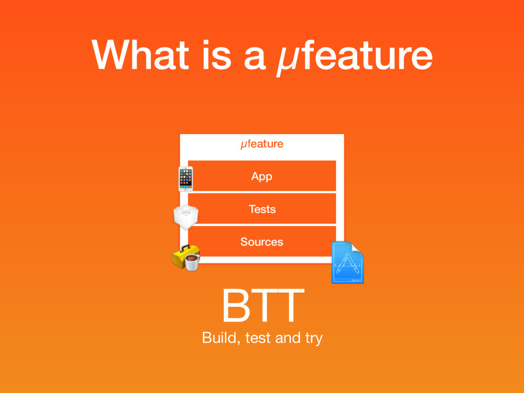 What is a µfeature µfeature Sources Tests App  ...