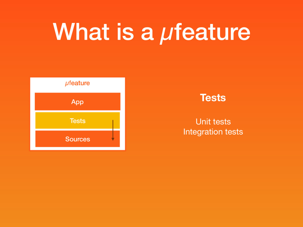 What is a µfeature µfeature Sources Tests App T...