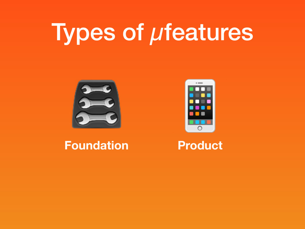 Types of µfeatures Foundation Product