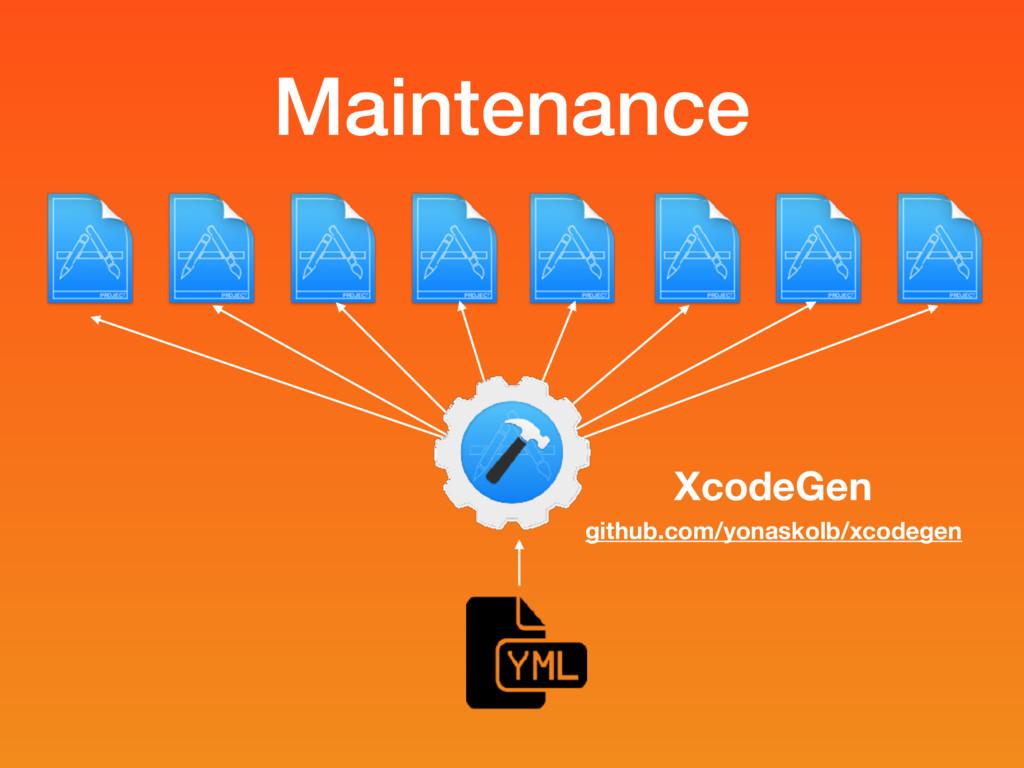 Maintenance XcodeGen github.com/yonaskolb/xcode...