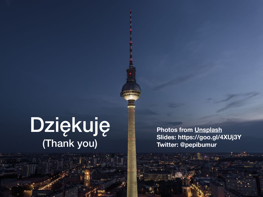 Dziękuję (Thank you) Photos from Unsplash