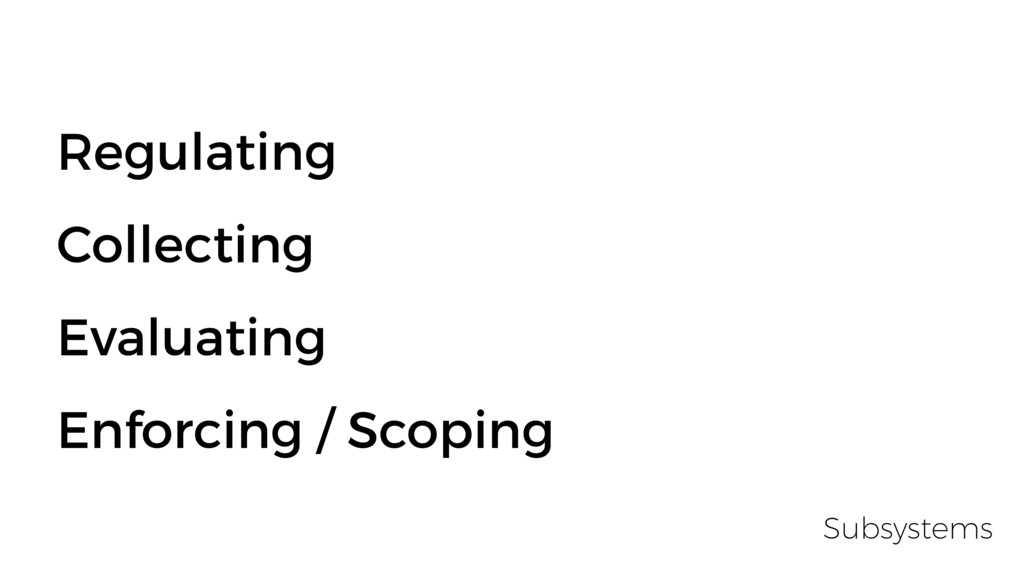 Regulating Collecting Evaluating Enforcing / Sc...