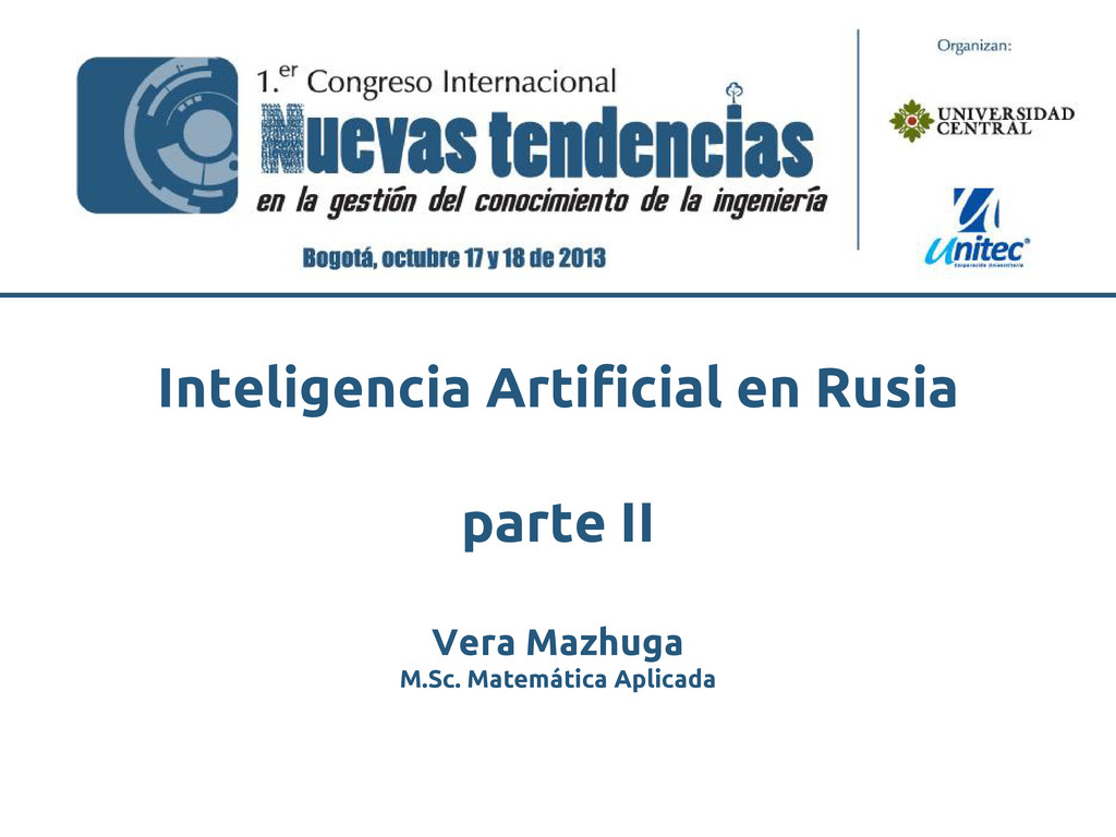 Vera Mazhuga M.Sc. Matemática Aplicada Intelige...