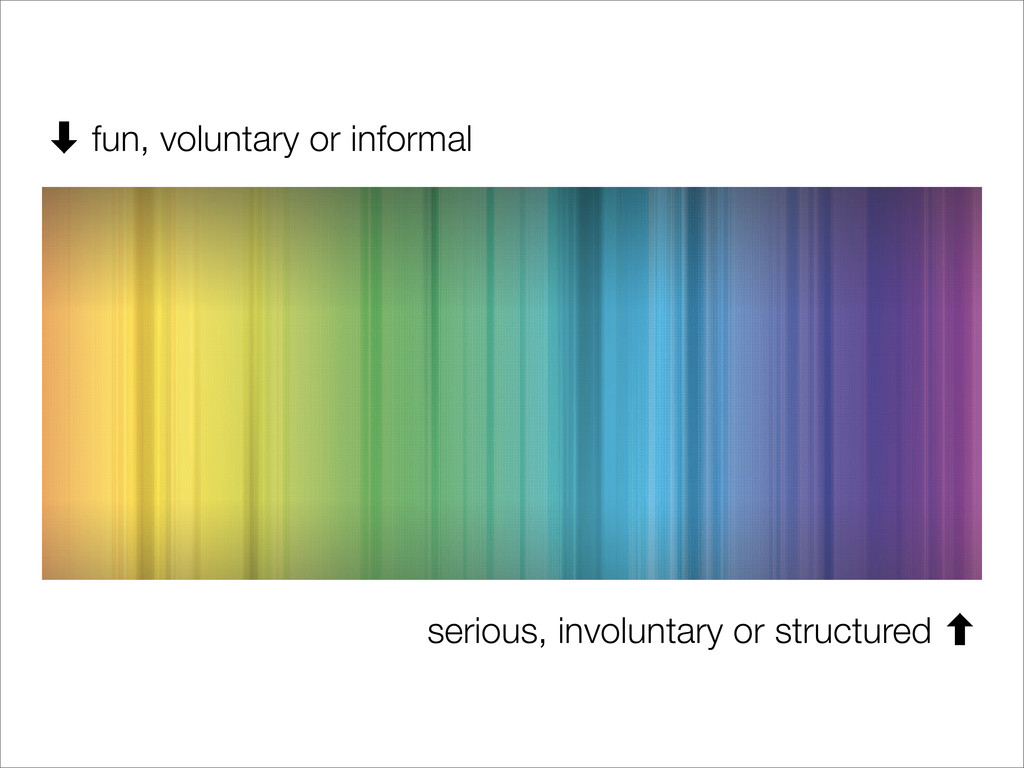 serious, involuntary or structured ‐ ‑ fun, vol...