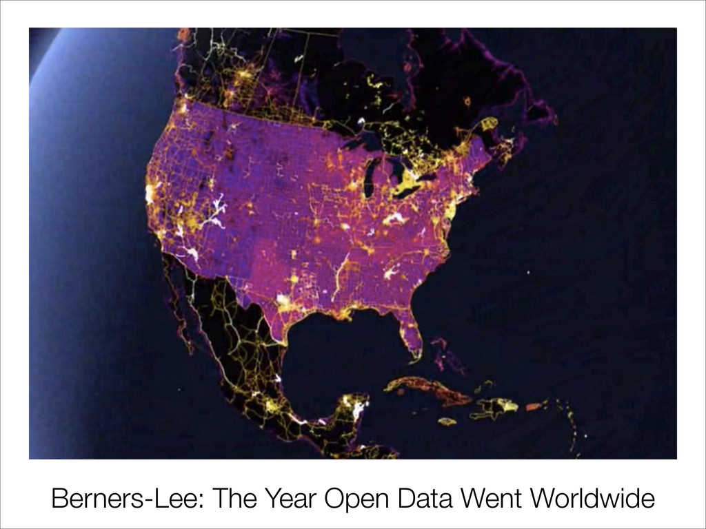 Berners-Lee: The Year Open Data Went Worldwide