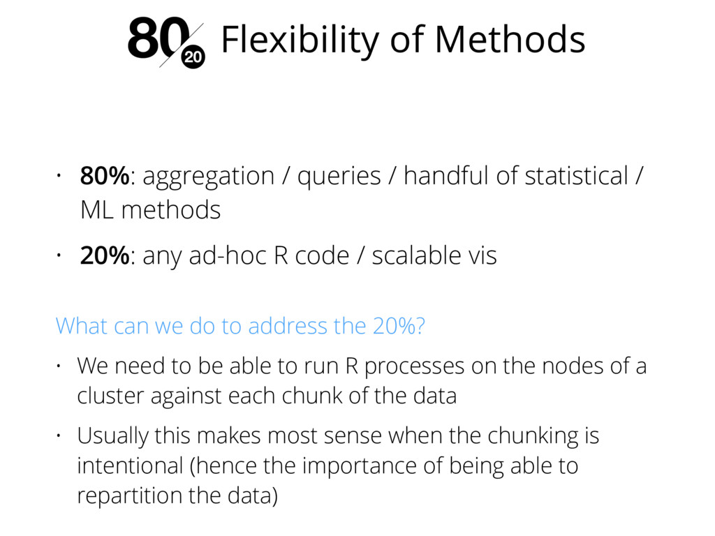 • 80%: aggregation / queries / handful of stati...