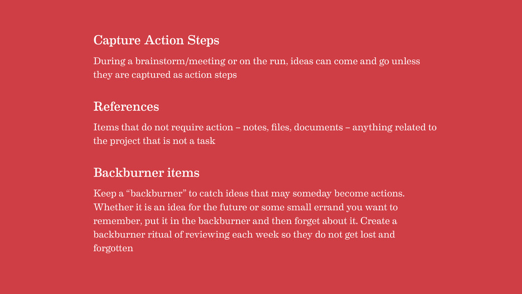 Capture Action Steps During a brainstorm/meetin...