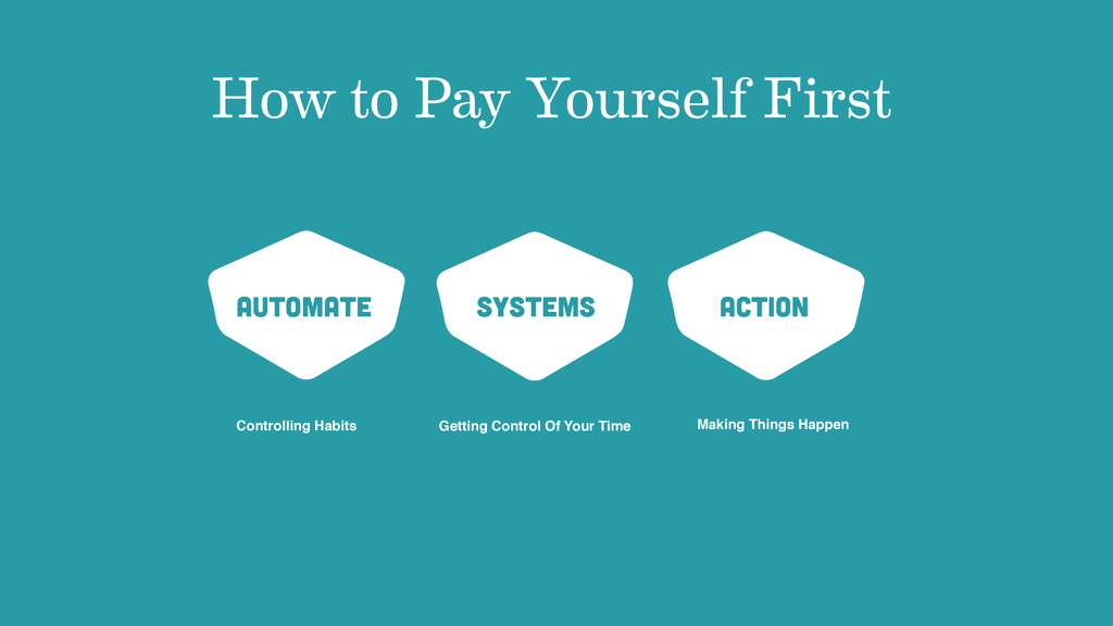 How to Pay Yourself First Automate Systems Acti...