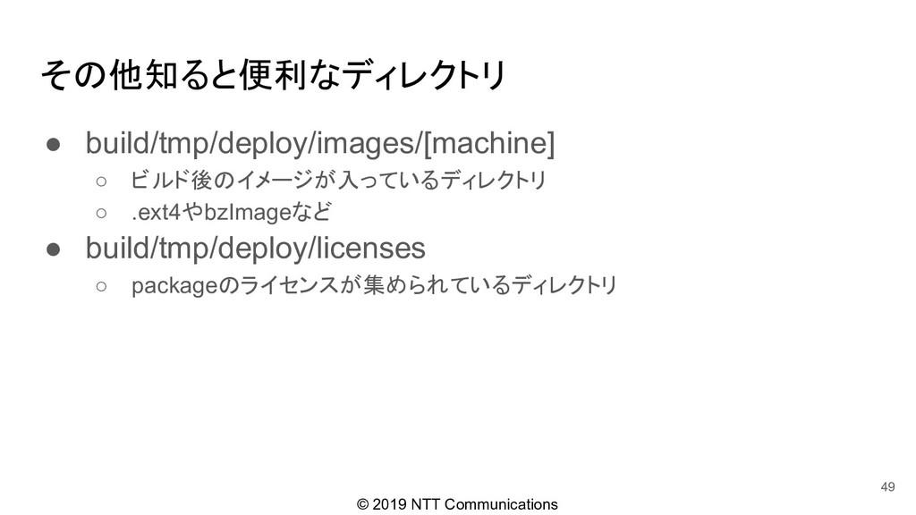 © 2019 NTT Communications その他知ると便利なディレクトリ ● bui...