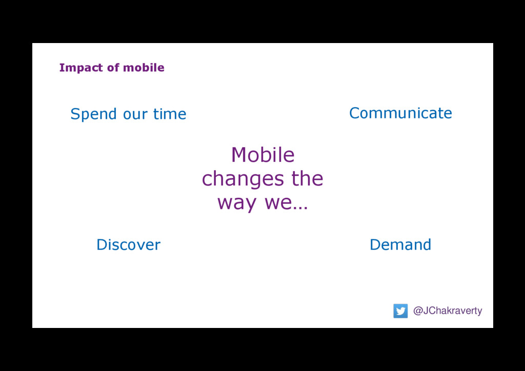 Impact of mobile @JChakraverty Mobile changes t...