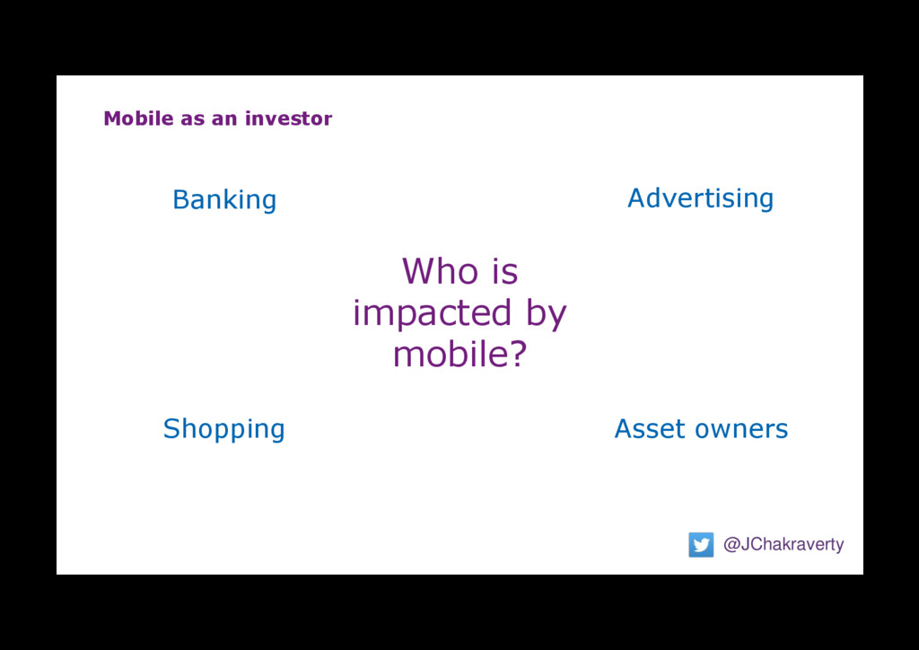 Mobile as an investor @JChakraverty Who is impa...