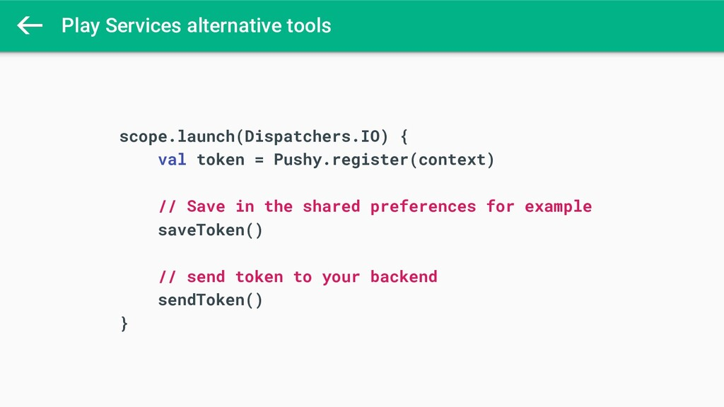 Play Services alternative tools scope.launch(Di...