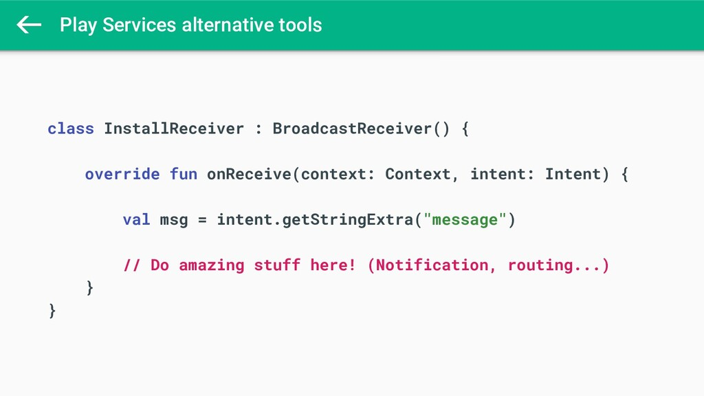 Play Services alternative tools class InstallRe...