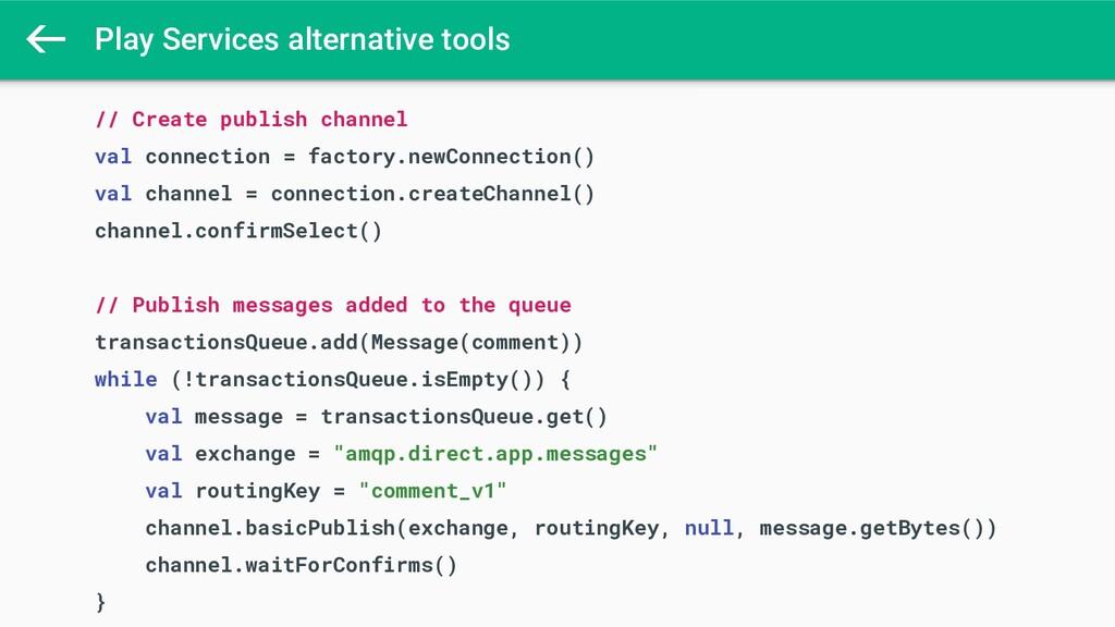Play Services alternative tools // Create publi...