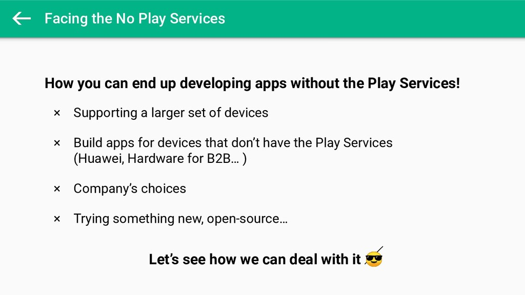 Facing the No Play Services How you can end up ...