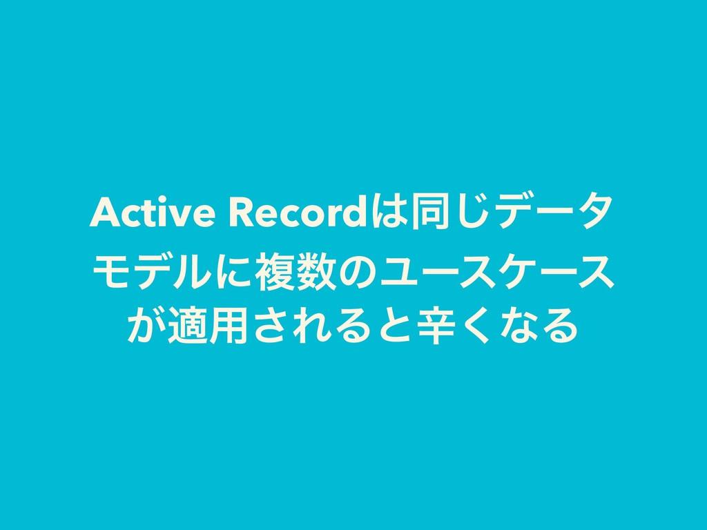Active Recordಉ͡σʔλ ϞσϧʹෳͷϢʔεέʔε ͕ద༻͞ΕΔͱਏ͘ͳΔ