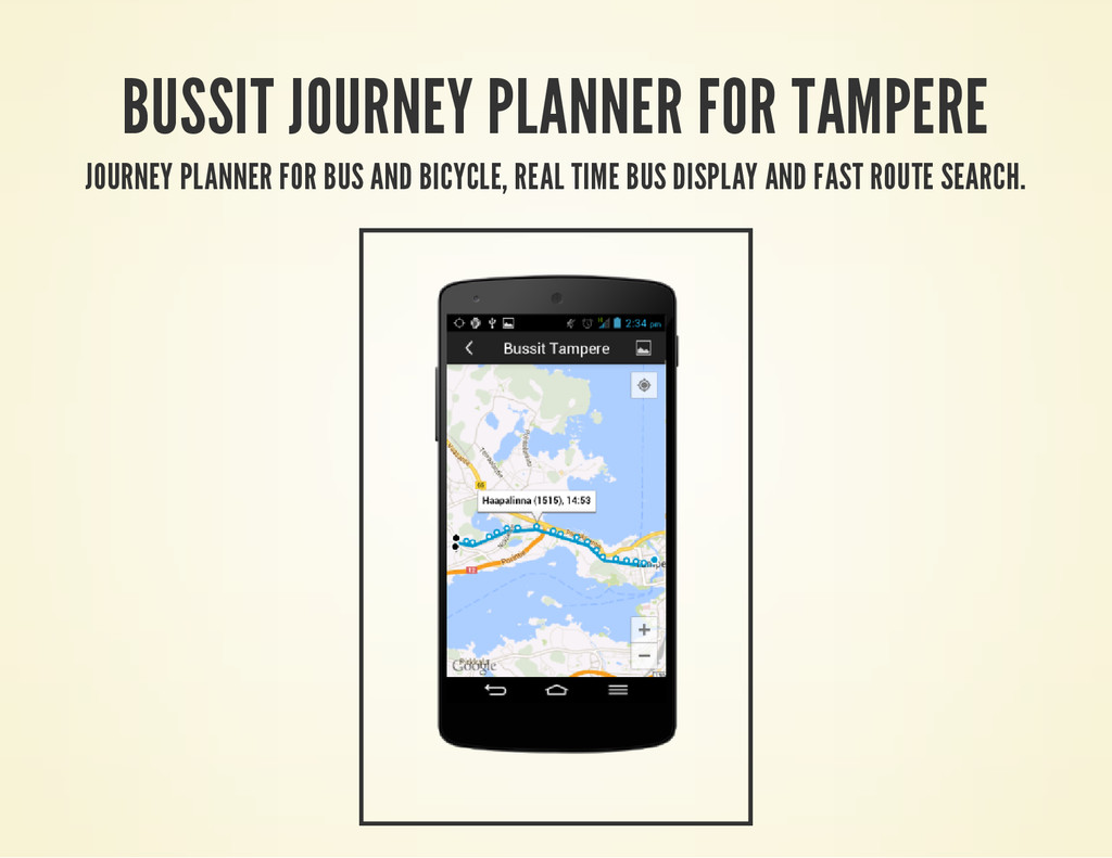 BUSSIT JOURNEY PLANNER FOR TAMPERE JOURNEY PLAN...