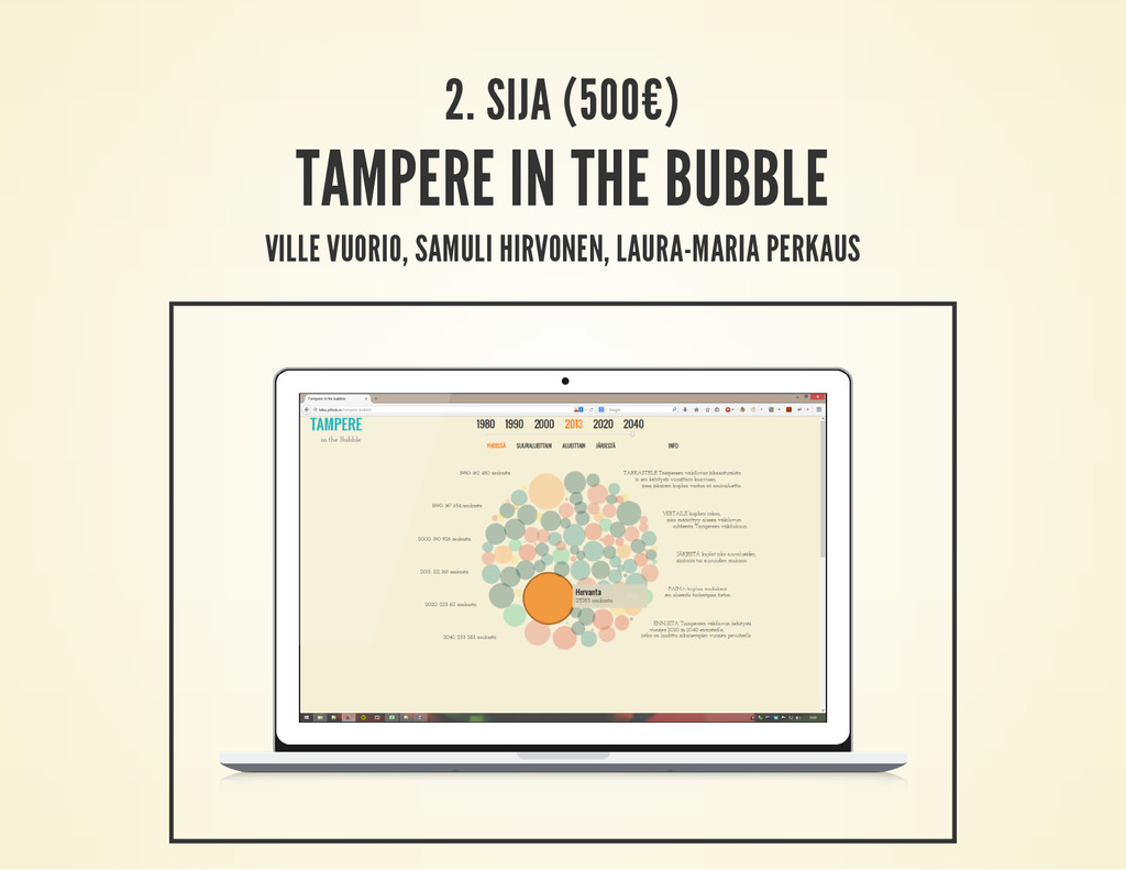 2. SIJA (500€) TAMPERE IN THE BUBBLE VILLE VUOR...