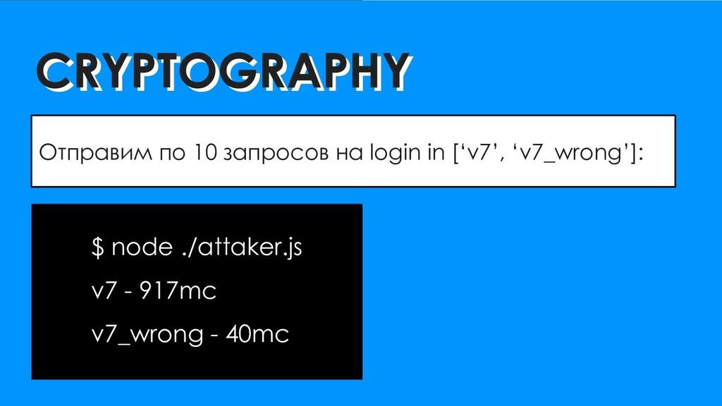 CRYPTOGRAPHY CRYPTOGRAPHY Отправим по 10 запрос...