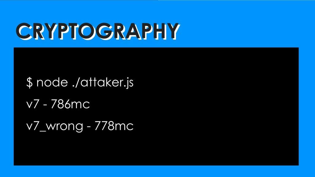 CRYPTOGRAPHY CRYPTOGRAPHY $ node ./attaker.js v...