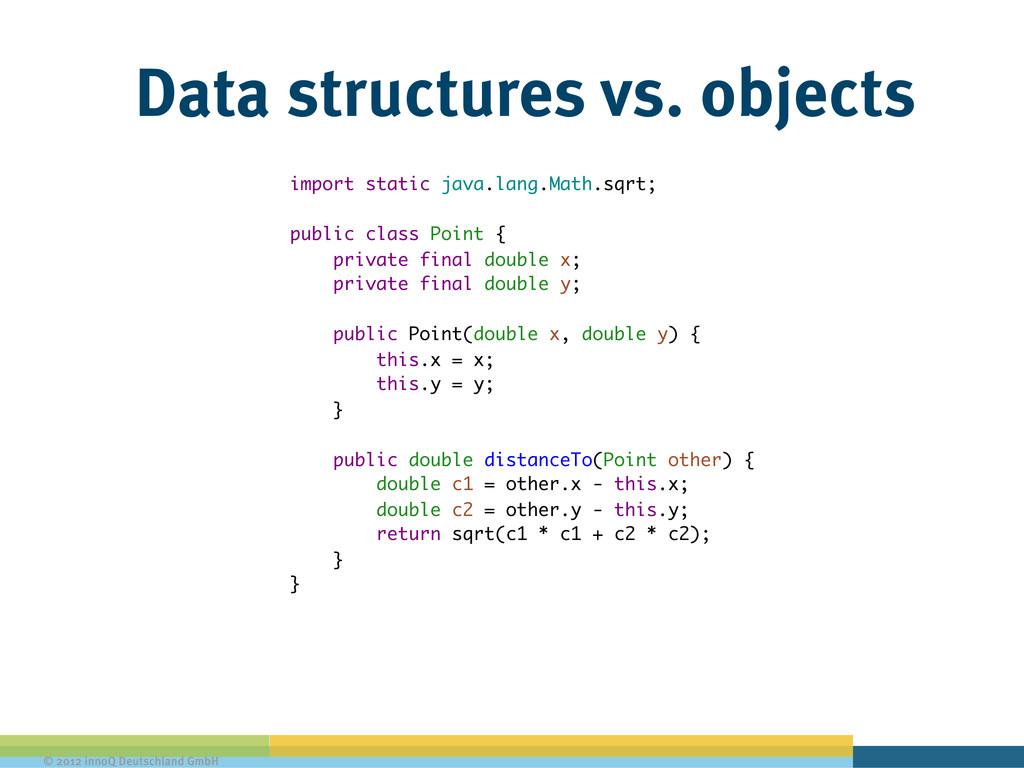 © 2012 innoQ Deutschland GmbH Data structures v...
