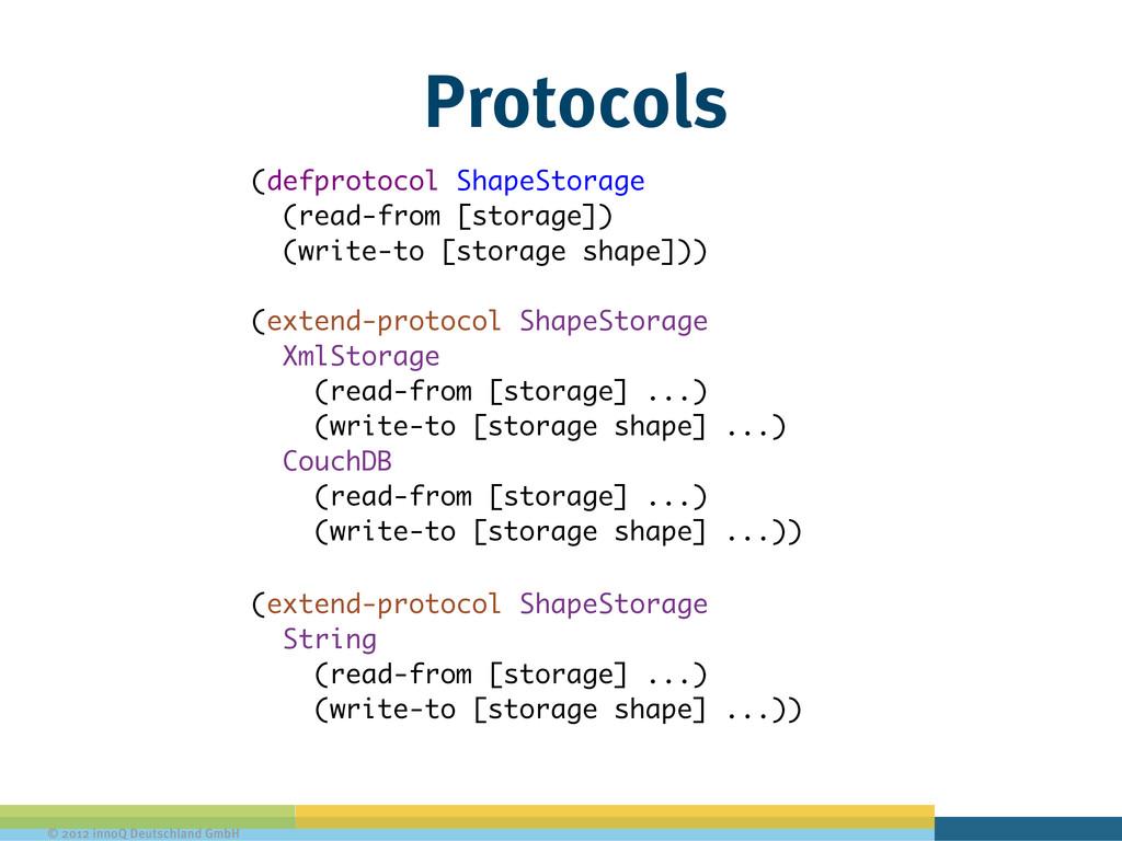 © 2012 innoQ Deutschland GmbH Protocols (defpro...