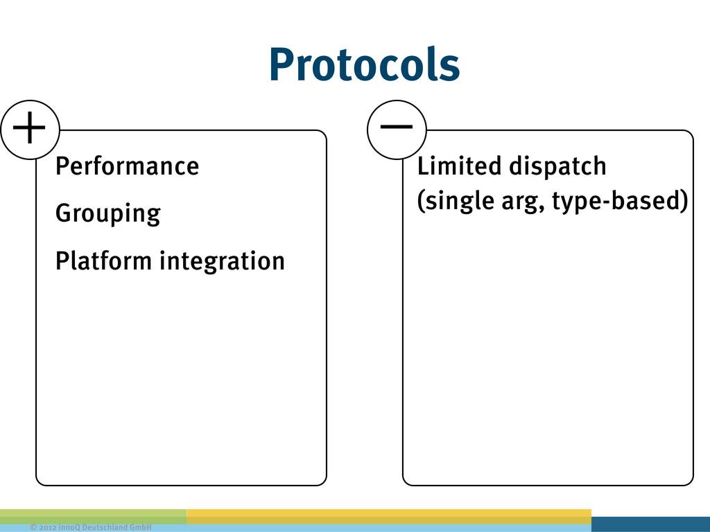 © 2012 innoQ Deutschland GmbH Protocols Perform...