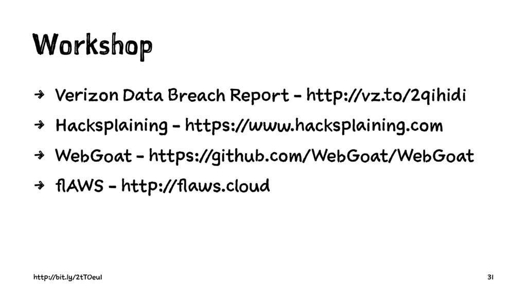 Workshop 4 Verizon Data Breach Report - http://...