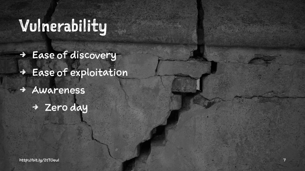 Vulnerability 4 Ease of discovery 4 Ease of exp...