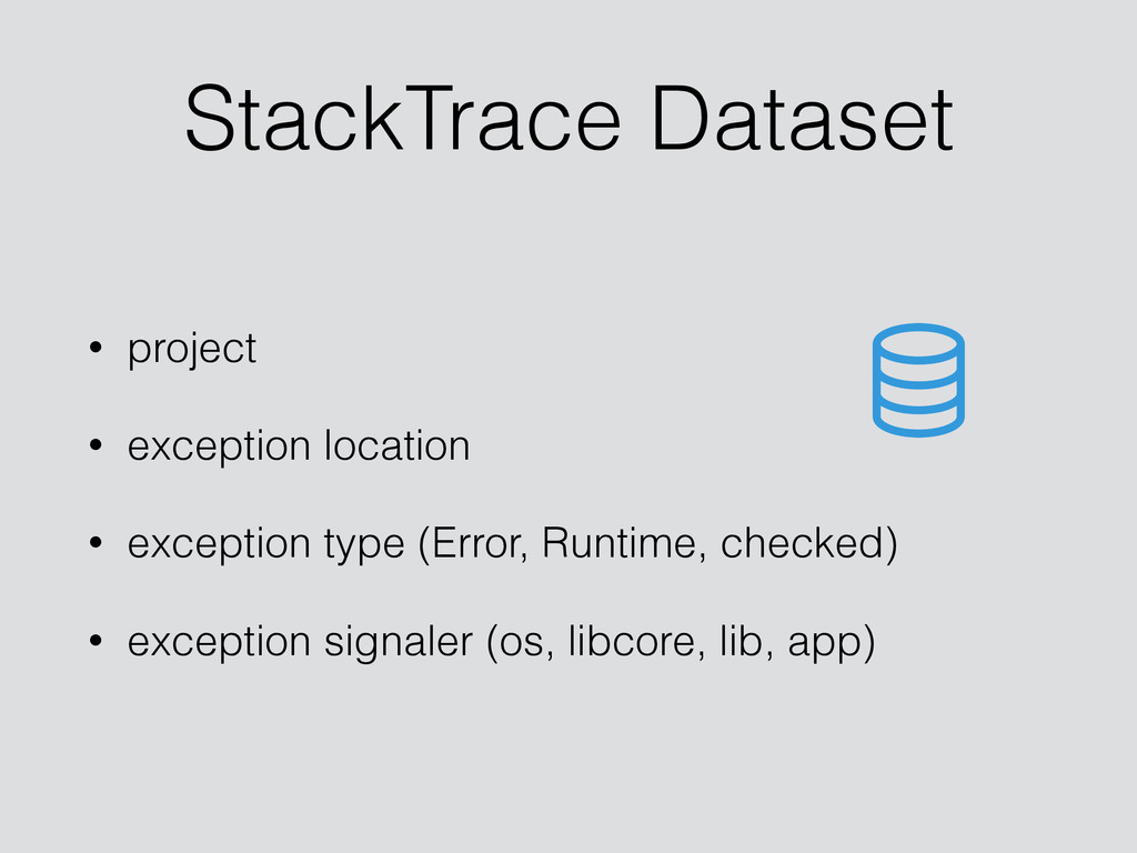 StackTrace Dataset • project • exception locati...