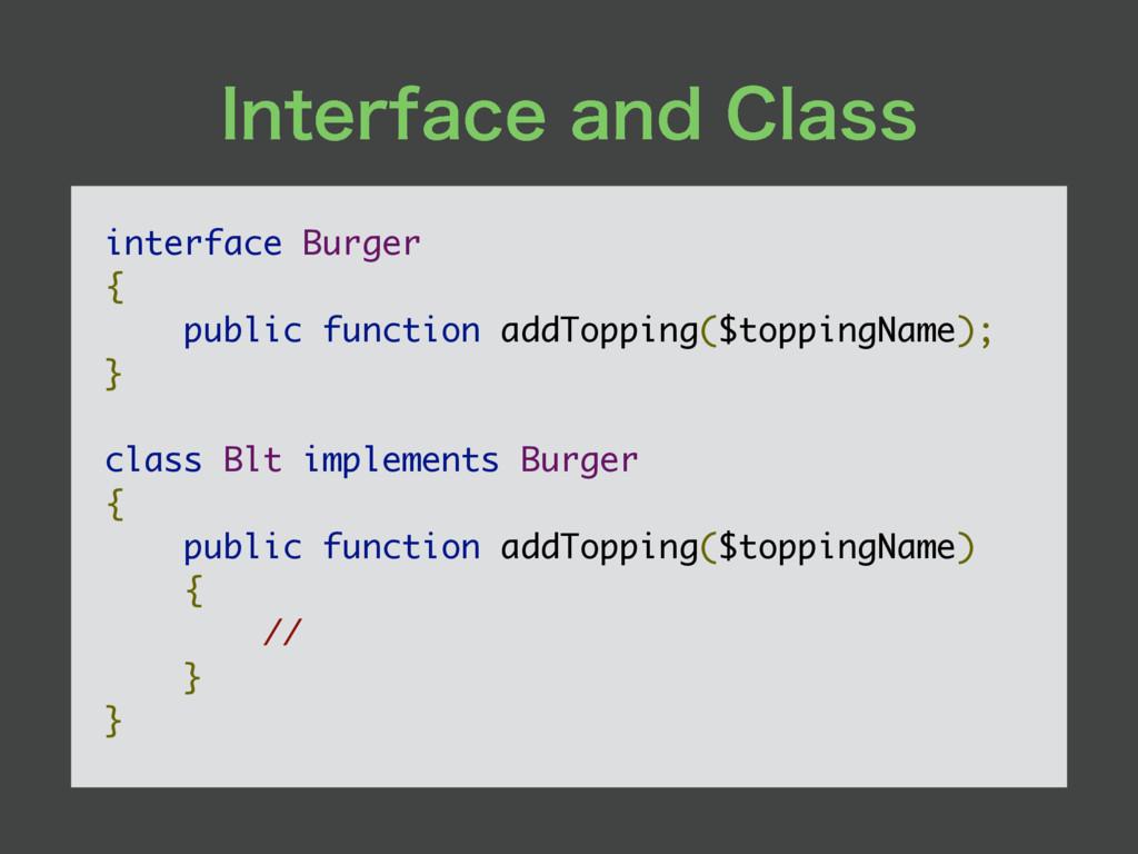 *OUFSGBDFBOE$MBTT interface Burger { public f...