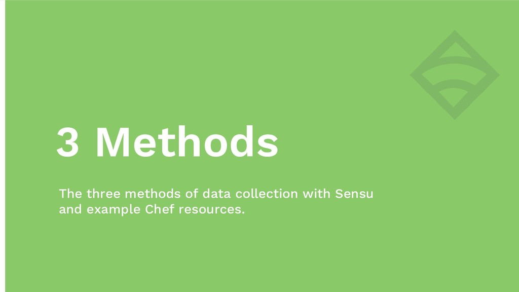 3 Methods The three methods of data collection ...
