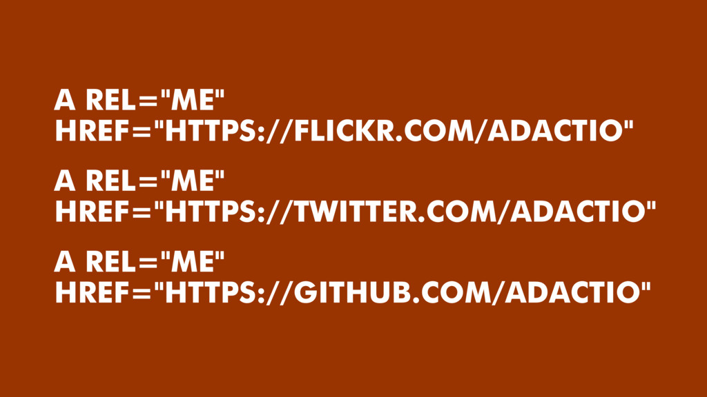 "A REL=""ME"" HREF=""HTTPS://TWITTER.COM/ADACTIO"" A..."