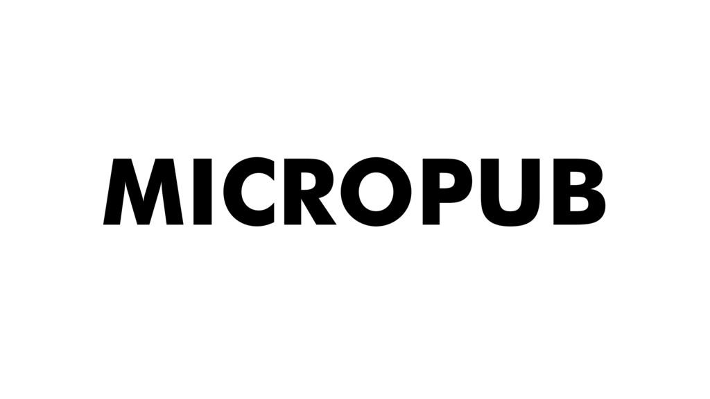 MICROPUB
