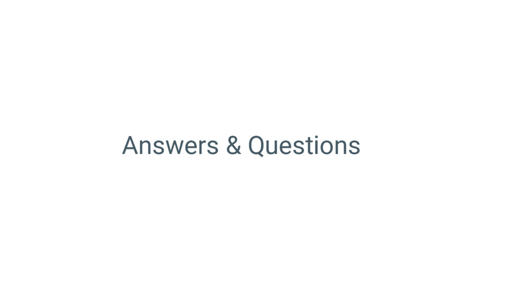Answers & Questions