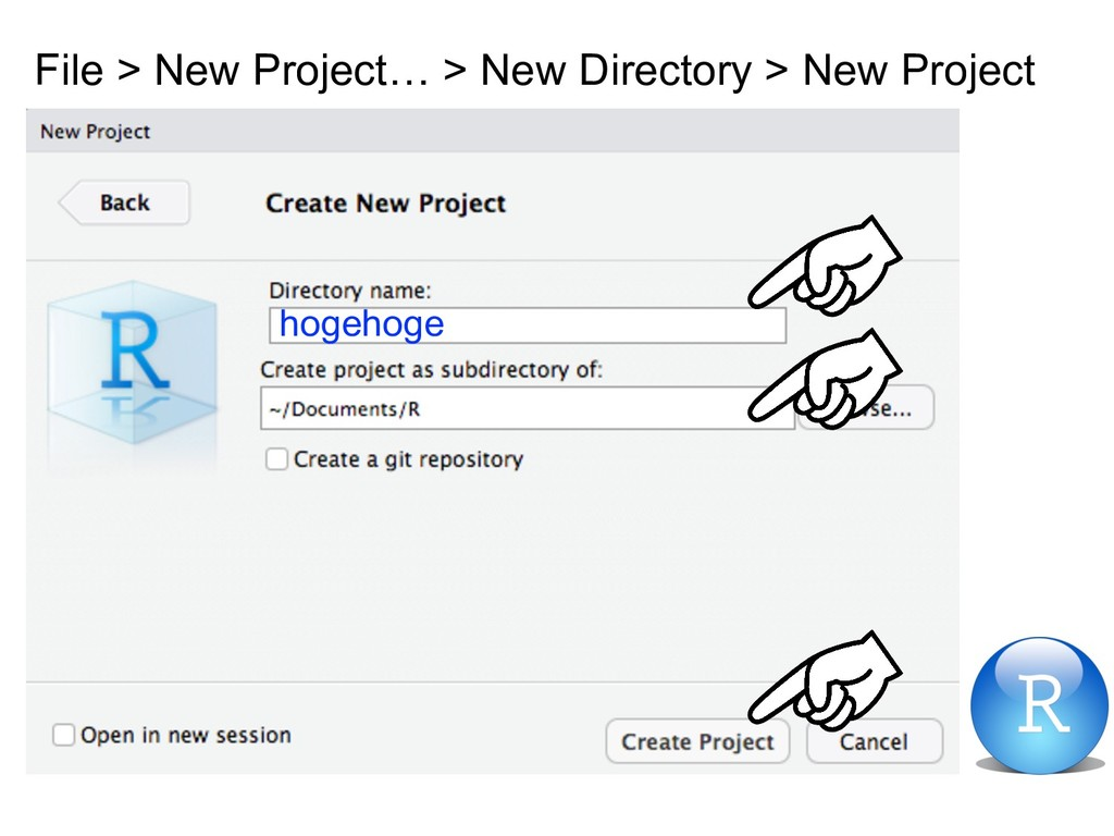 File > New Project… > New Directory > New Proje...