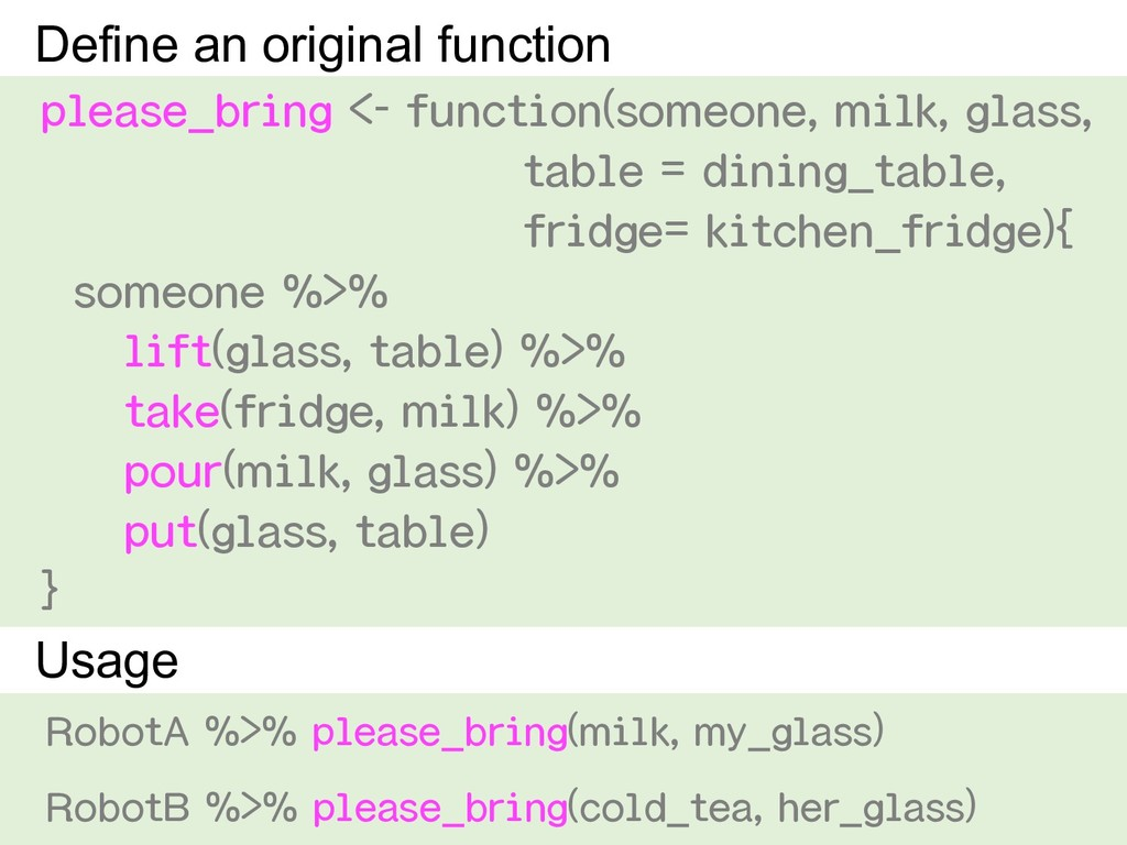 please_bring <- function(someone, milk, glass, ...