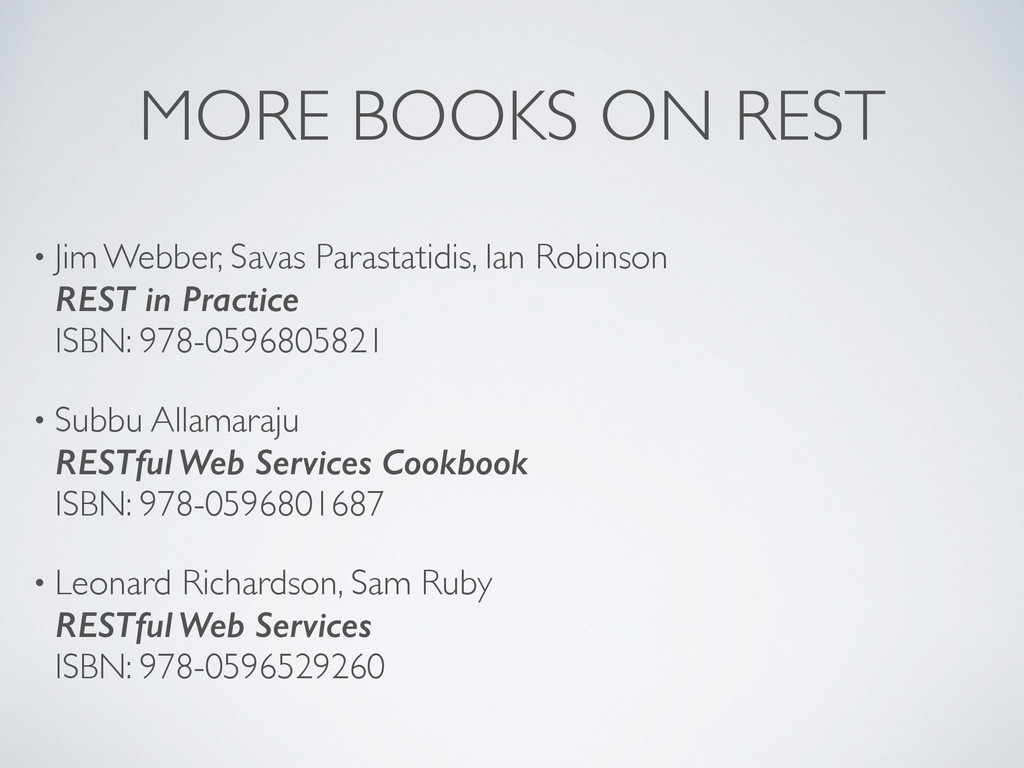 MORE BOOKS ON REST • Jim Webber, Savas Parastat...