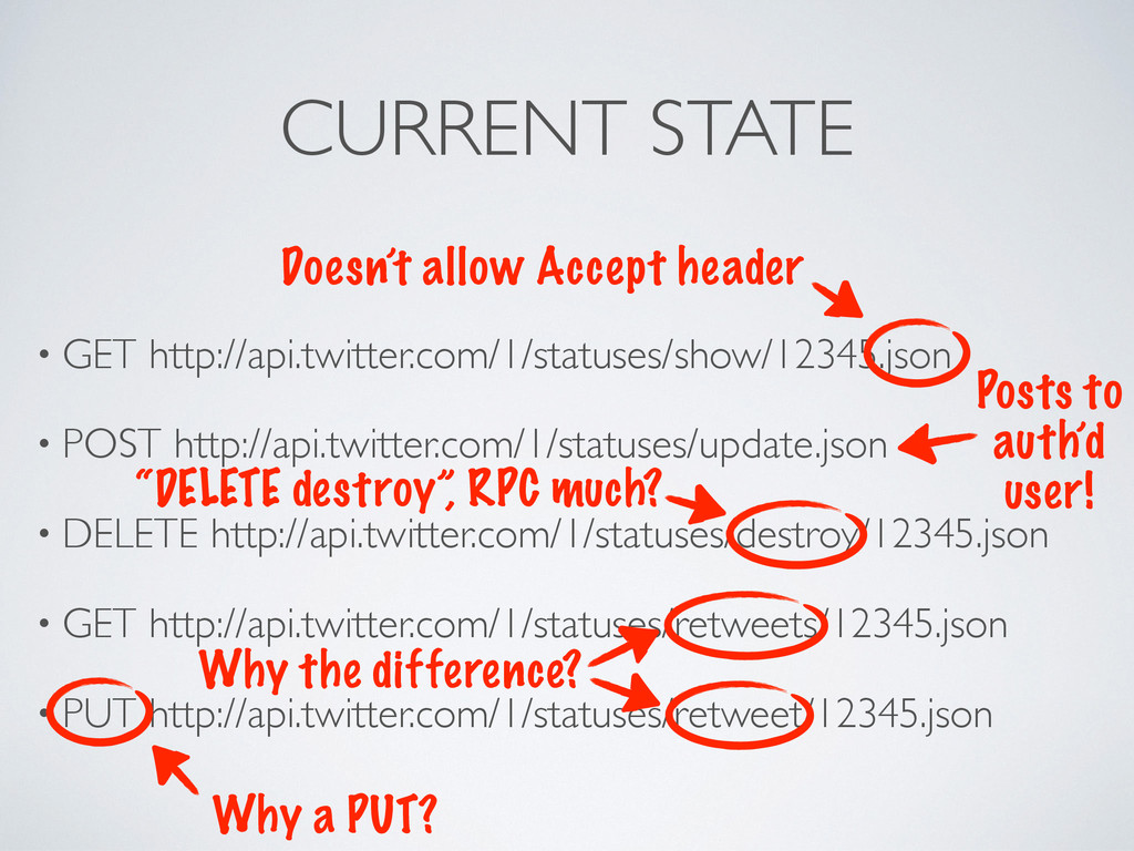 CURRENT STATE • GET http://api.twitter.com/1/st...