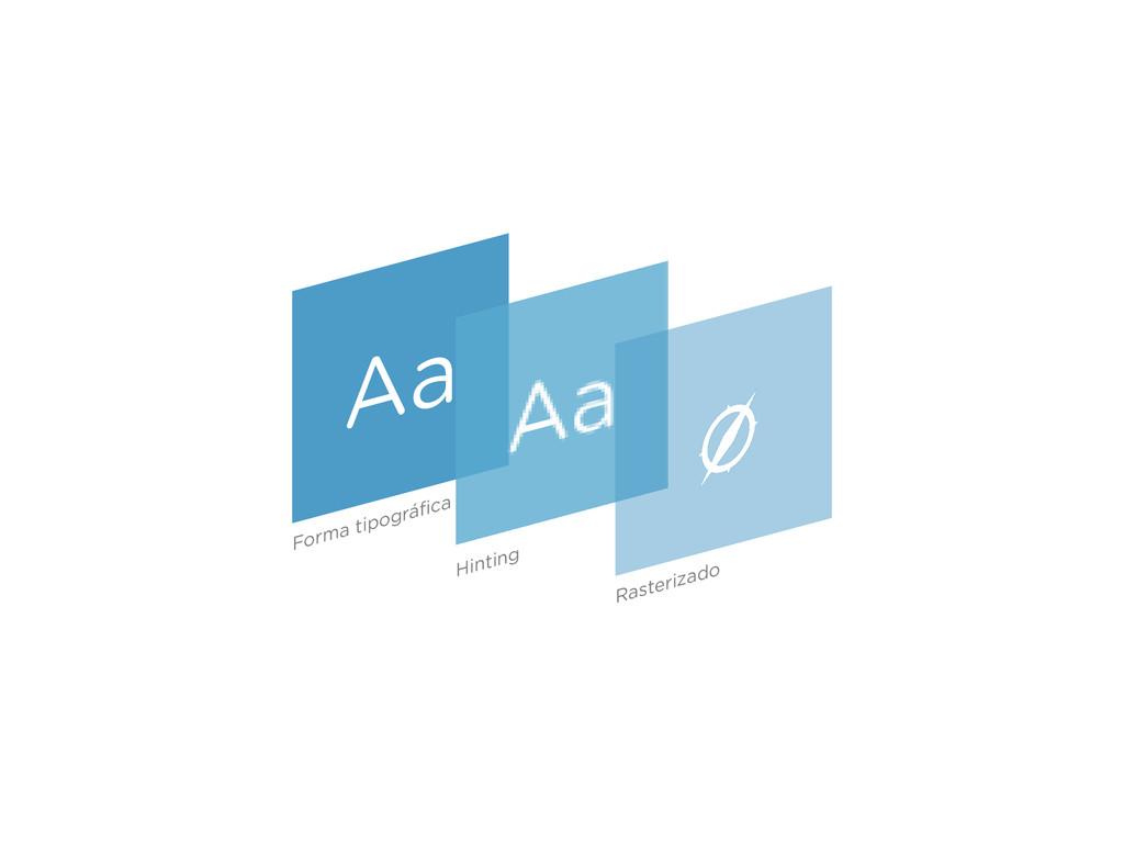 Aa Forma tipográfica Hinting Rasterizado