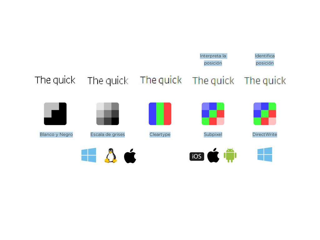 Cleartype Blanco y Negro DirectWrite Identifica...
