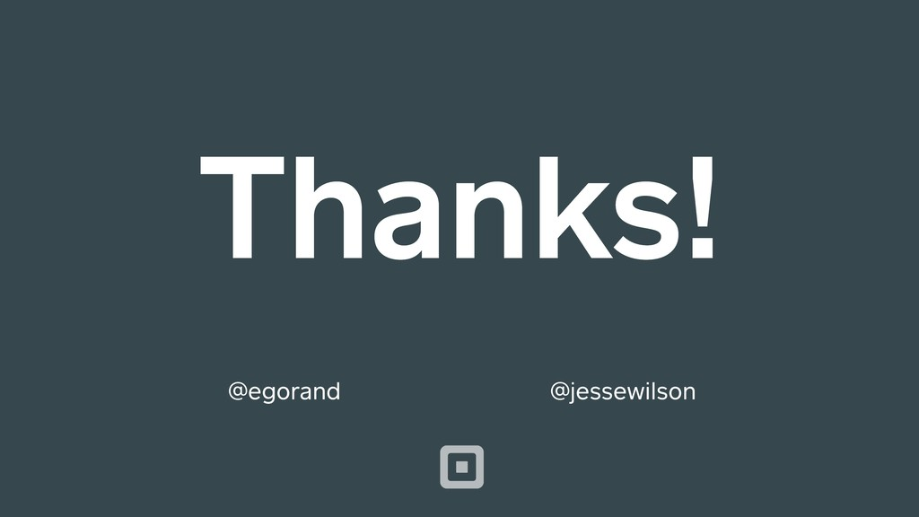 Thanks! @jessewilson @egorand