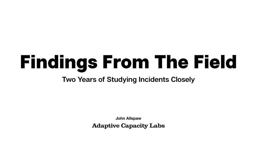 Findings From The Field Two Years of Studying I...