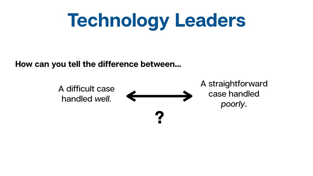 Technology Leaders How can you tell the differe...