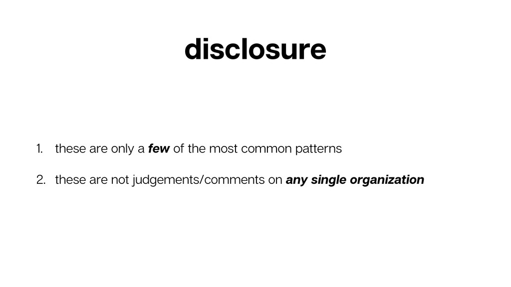 disclosure 1. these are only a few of the most ...