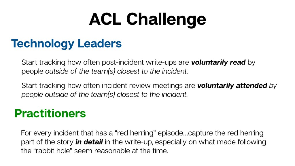 ACL Challenge Technology Leaders Practitioners ...
